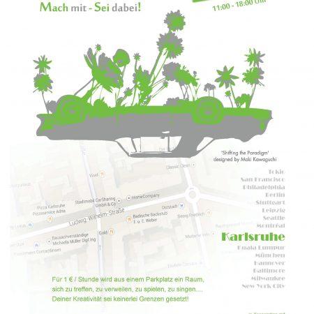 Quartier Zukunft beim Park(ing) Day in der Ostadt