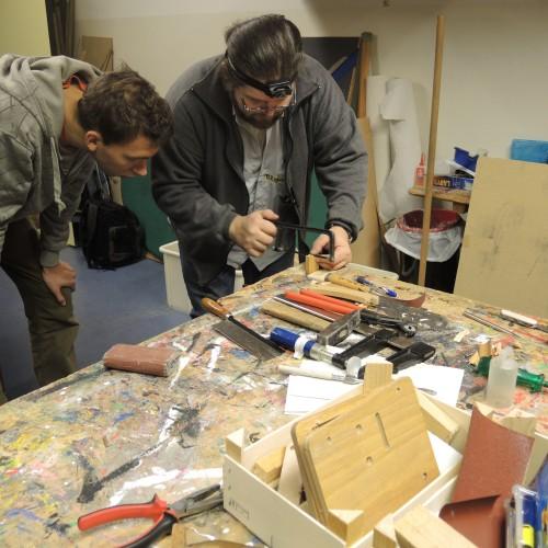 Die Holzwerkstatt unseres ersten ReparaturCafés in der Oststadt