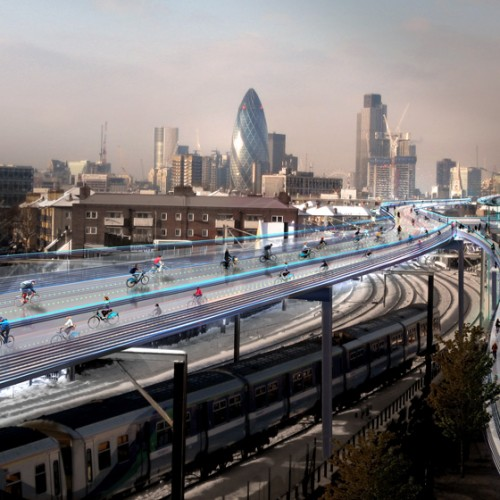 Skycycle in London (c) Foster + Partners
