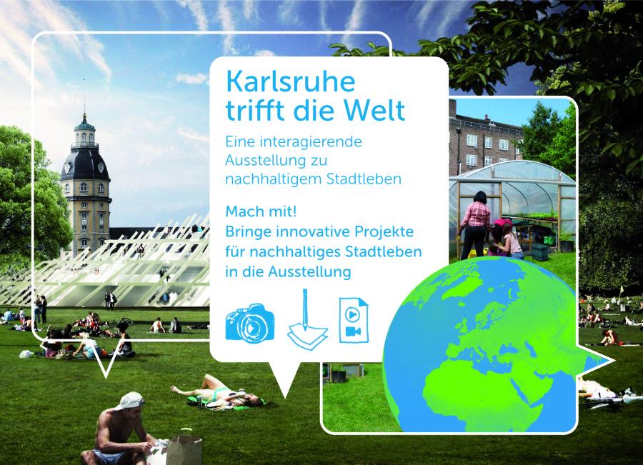Die Ausstellung wird erstmals im Bürgerpavillon des Karlsruher Stadtgeburtstages gezeigt.