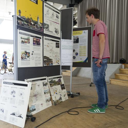 """Ausstellungsraum """"Nachhaltige Stadt entwickeln"""" © Karlsruher Institut für Technologie"""