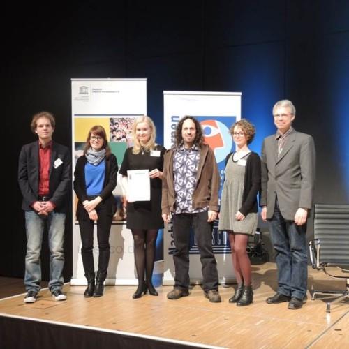"""Das Quartier Zukunft wird 2014 von der Deutschen UNSECO-Kommission als Projekt der UN-Dekade """"Bildung für nachhaltige Entwicklung"""" ausgezeichnet."""