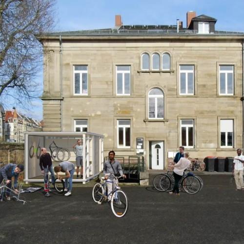 Gewinner des Ideenpreises Im|Puls Oststadt ist das Projekt Bikes Without Borders, das gemeinsam mit Flüchtlingen gespendete Fahrräder repariert und diese dann an die Flüchtlinge verleiht.