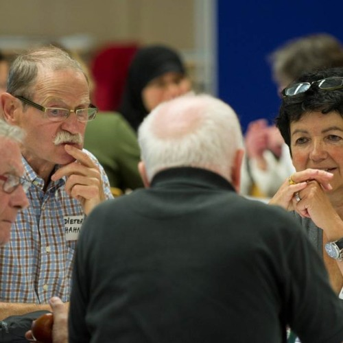 Rund 350 Teilnehmende entwickelten in Präsenzveranstaltungen und online gemeinsam ein öffentlich einsehbares Bürgerprogramm mit insgesamt 12 Bürgervorschlägen.