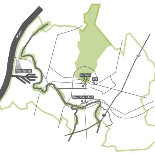 Beim Start des Quartier Zukunft – Labor Stadt steht das Projektgebiet innerhalb Karlsruhes noch nicht fest. 2012 widmet sich das Projektteam intensiv einer Raumanalyse, um ein geeignetes Projektgebiet zu identifizieren.
